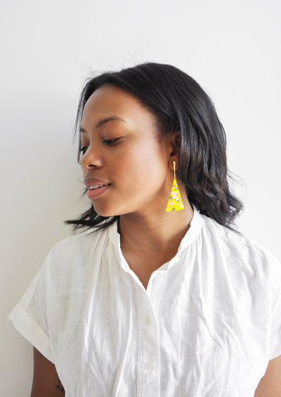 Treasure Map Earrings hover