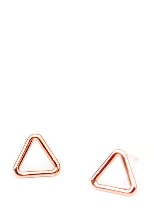Triangle Window Stud Earrings - LEIF