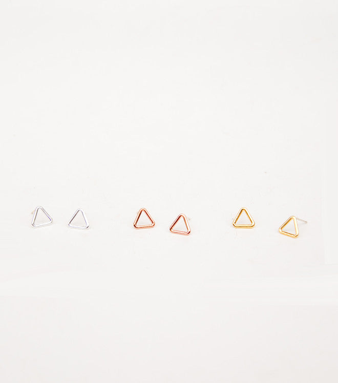 Triangle Window Stud Earrings
