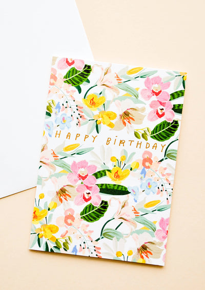 Tropiflora Birthday Card