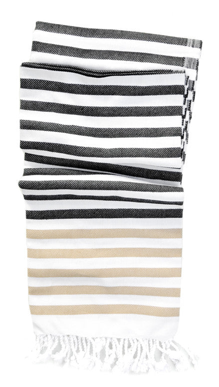 Turkish Tassel Striped Towel - LEIF