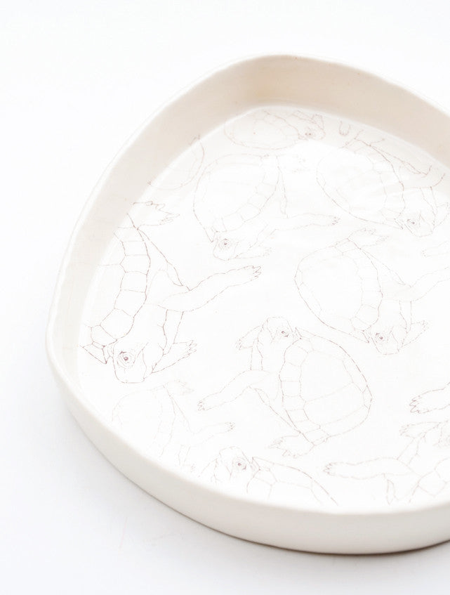Turtle Print Porcelain Tray