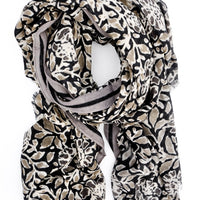 Tuscan Floral Wool-Cashmere Scarf - LEIF