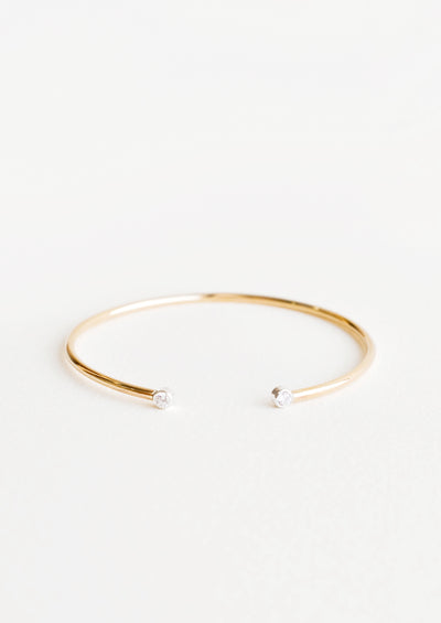 Two Tone Dot Cuff Bracelet in  - LEIF