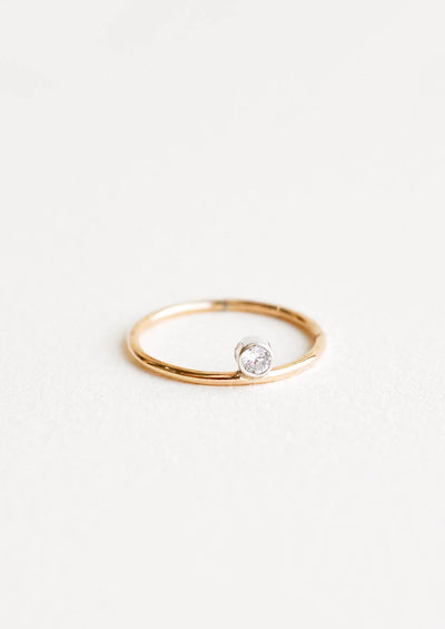 Two Tone Dot Ring in  - LEIF