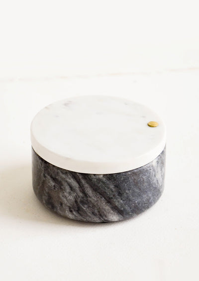 Two Tone Marble Salt Cellar