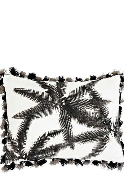 Umbrella Fern Tassel Trim Pillow - LEIF
