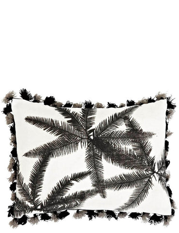 Umbrella Fern Tassel Trim Pillow