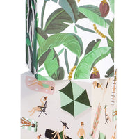 Banana Leaves: Vacationer Sticky Note Cube in Banana Leaves - LEIF
