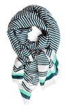 Variegated Stripe Wool-Silk Scarf - LEIF