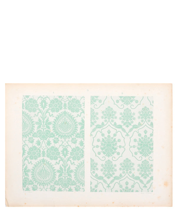Vintage Fabric Pattern Print, c. 1896 - LEIF