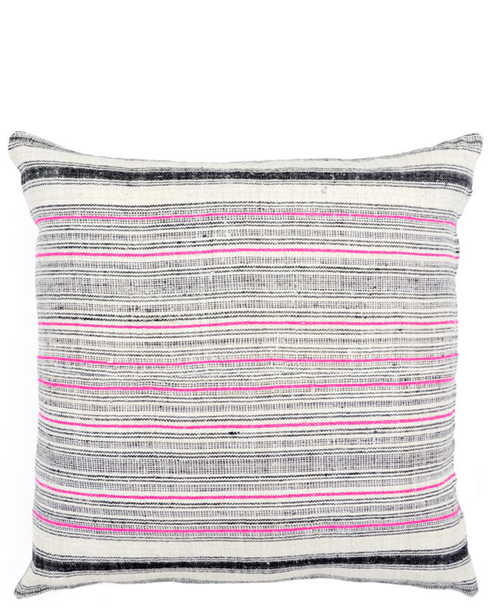 "1: Vintage Hemp Stripe Pillow, 22"" in  - LEIF"