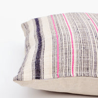 "2: Vintage Hemp Stripe Pillow, 22"" in  - LEIF"