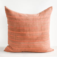 1: Thin Neon Stripe Pillow in Rust in  - LEIF
