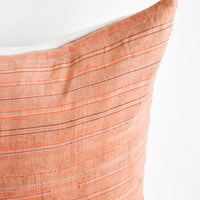 2: Thin Neon Stripe Pillow in Rust in  - LEIF