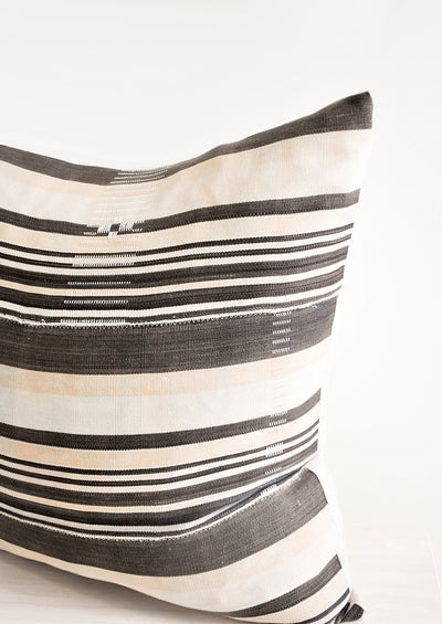 Mali Cloth Pillow in Neutral Stripe hover