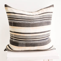 Mali Cloth Pillow in Neutral Stripe