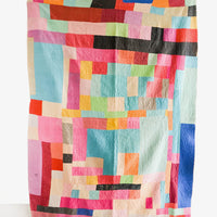 1: Vintage Patchwork Kantha Quilt in Multiple Bright Colors - LEIF