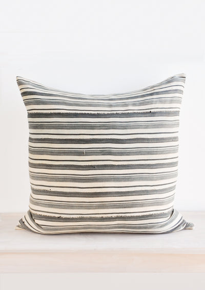Vintage Striped Mali Cloth Pillow