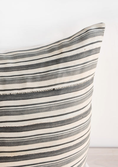 Vintage Striped Mali Cloth Pillow hover