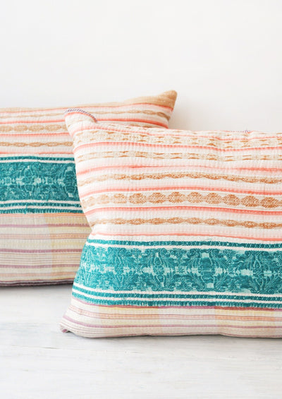 Vintage Quilt Fabric Pillow