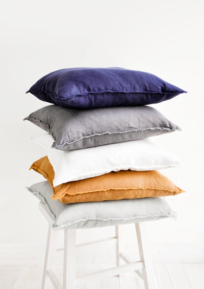 Washed Linen Pillow hover