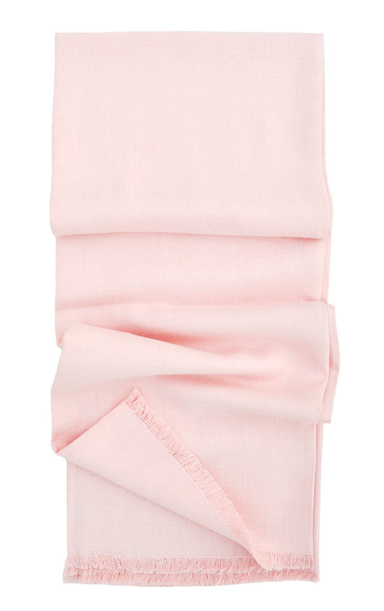 Pale Rose: Washed Linen Throw in Pale Rose - LEIF