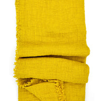 Citrine: Waffle Linen Throw in Citrine - LEIF
