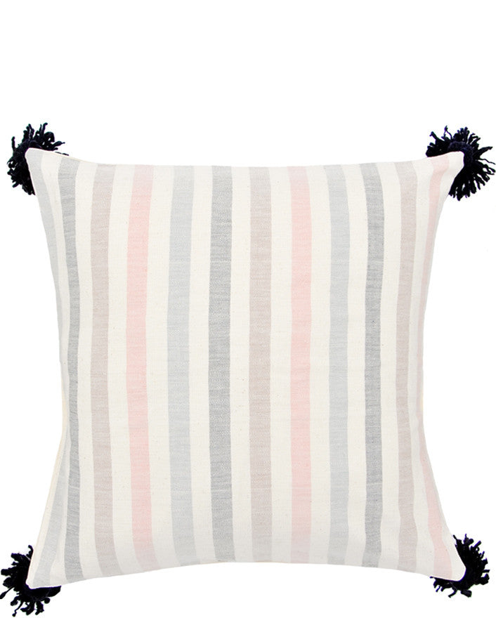 "Washed Stripe Pillow, 20"" - LEIF"