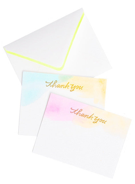 Washed Watercolor Card Set - LEIF