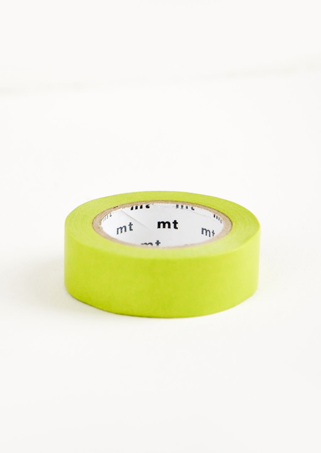 Sapling Green: A roll of washi tape in solid sapling green.