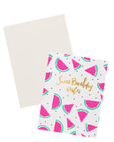 Watermelon Birthday Wishes Card