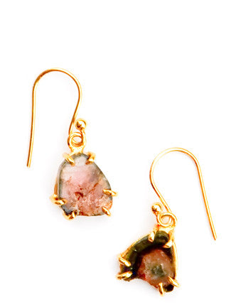 Watermelon Tourmaline Drop Earrings - LEIF