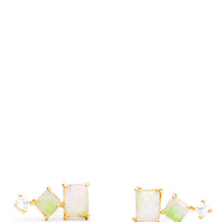 Stacked Watermelon Tourmaline Studs - LEIF