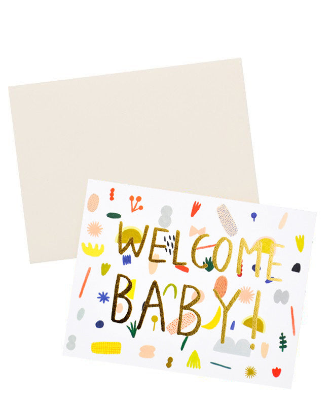 Playful Shapes Baby Card - LEIF
