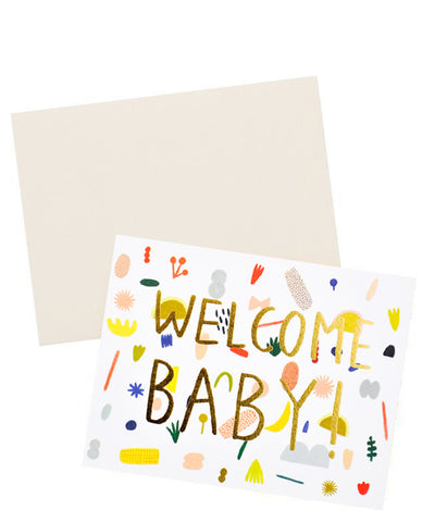 Playful Shapes Baby Card