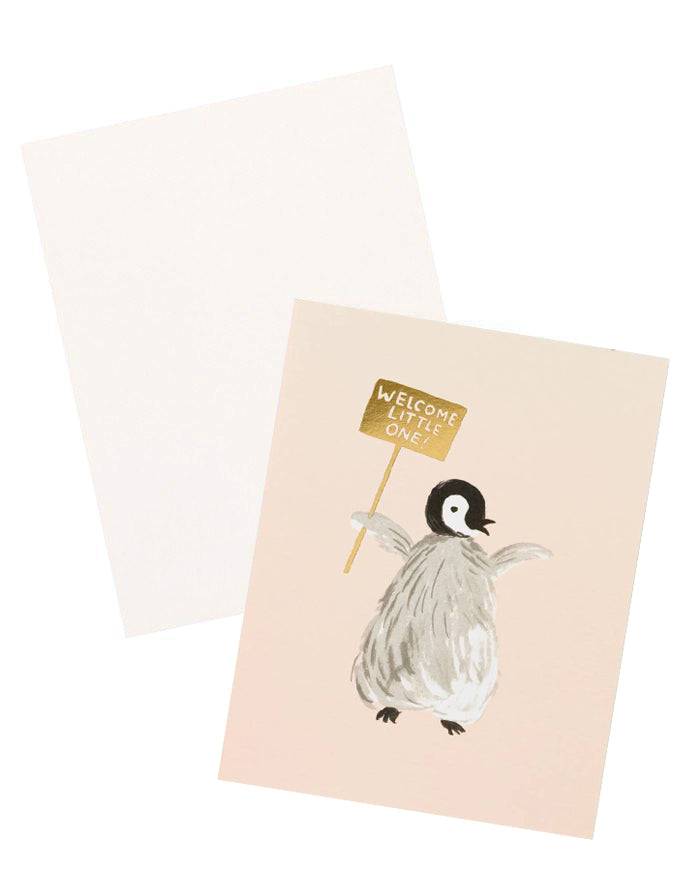Little Penguin Baby Card - LEIF