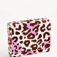 1: Wild Child Beaded Box Clutch in  - LEIF