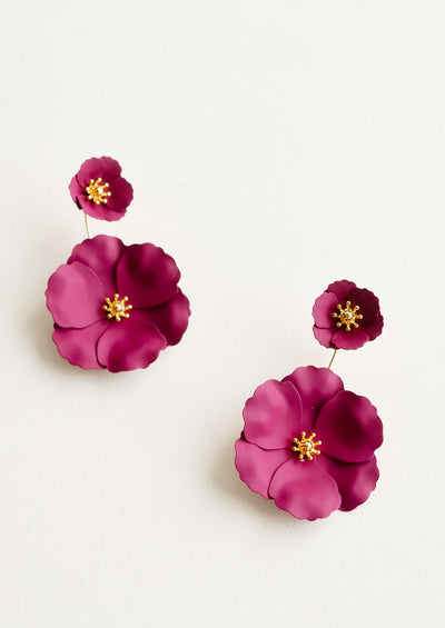 Wild Poppy Earrings hover