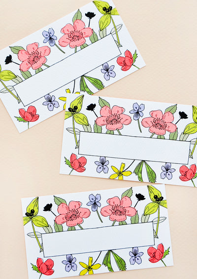 Wildflower Mini Notecard Set