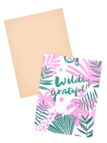 Wildly Grateful Card