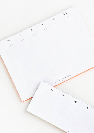 Days of the Week Planner Pad