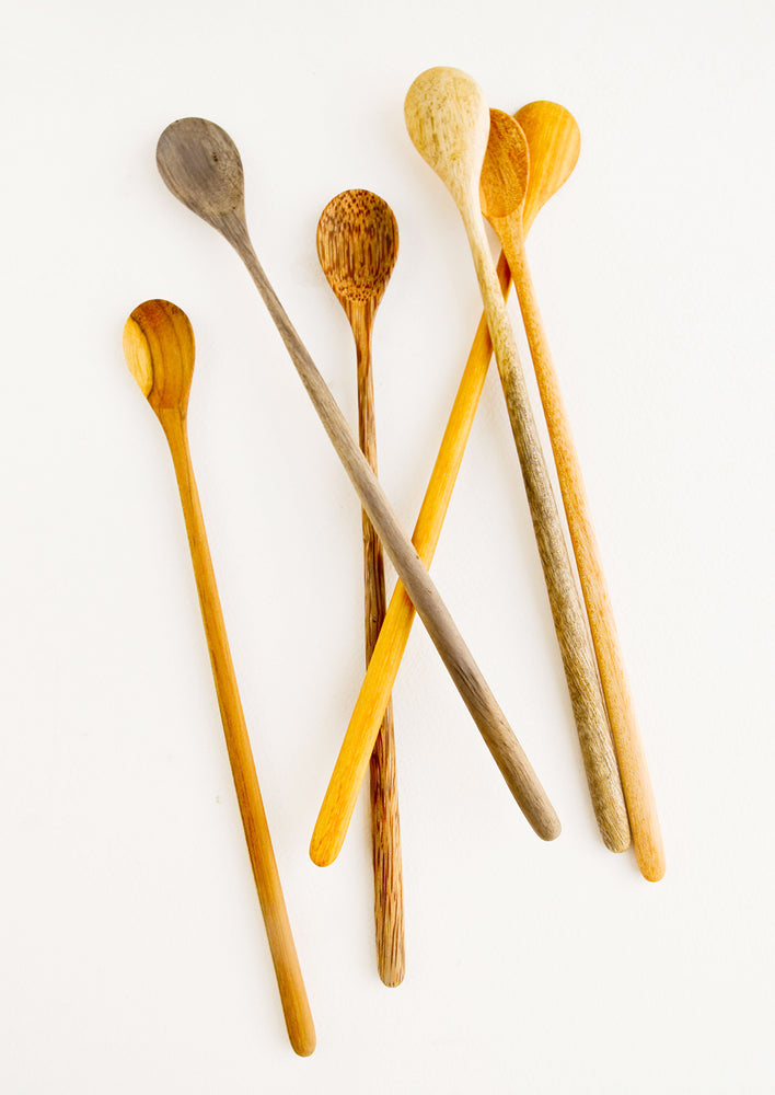 2: Wooden Tasting Spoon Set in  - LEIF