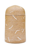 Etched Pattern Ceramic Jar - LEIF