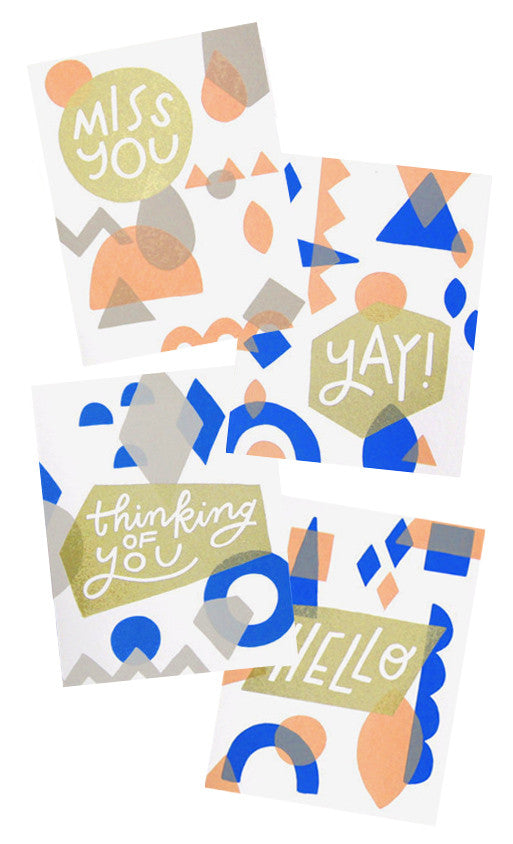 Overprint Assorted Card Set - LEIF
