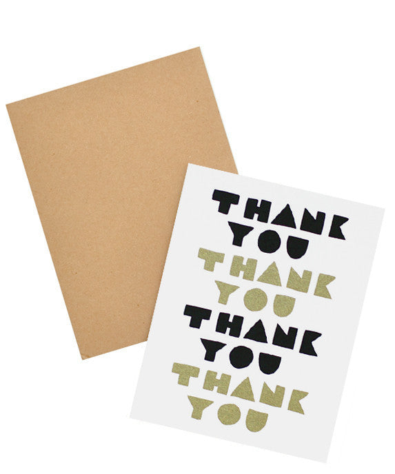Block Letters Thank You Card - LEIF