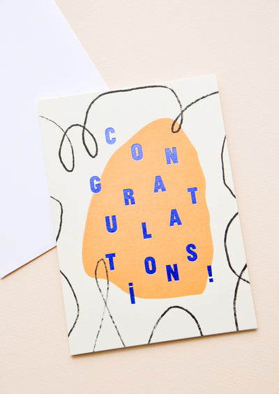 Abstract Congratulations Card in  - LEIF