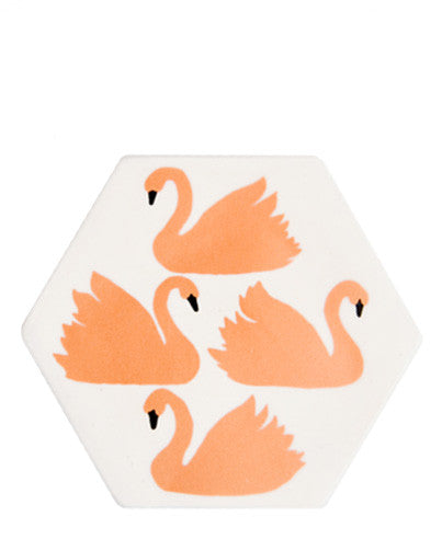 Swimming Swans Paperweight - LEIF