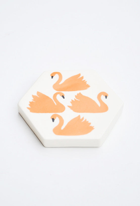 Swimming Swans Paperweight