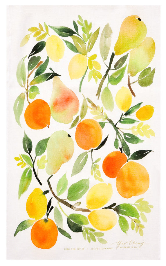 Citrus Composition Tea Towel - LEIF
